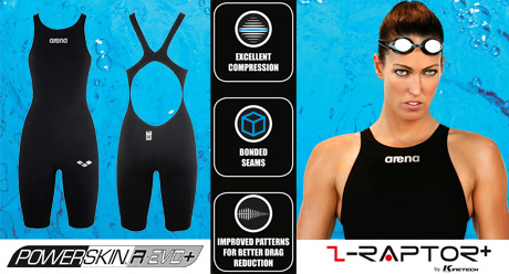 Arena Powerskin R-Evo+ Body Suit - Short Leg (Open Back)