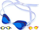 mirrored and prescription swim goggles