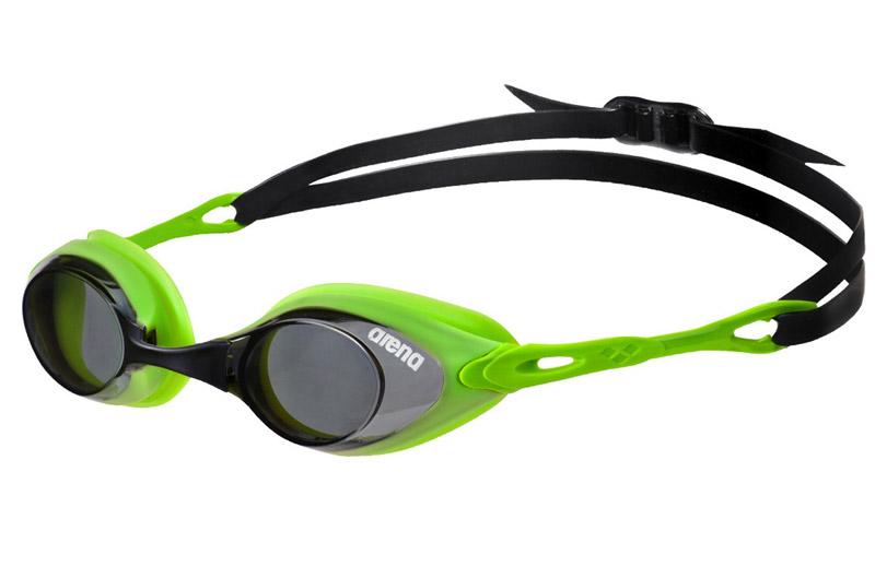 c9e3ebd11 Óculos Natação Arena Cobra - Fumado com silicone verde lima