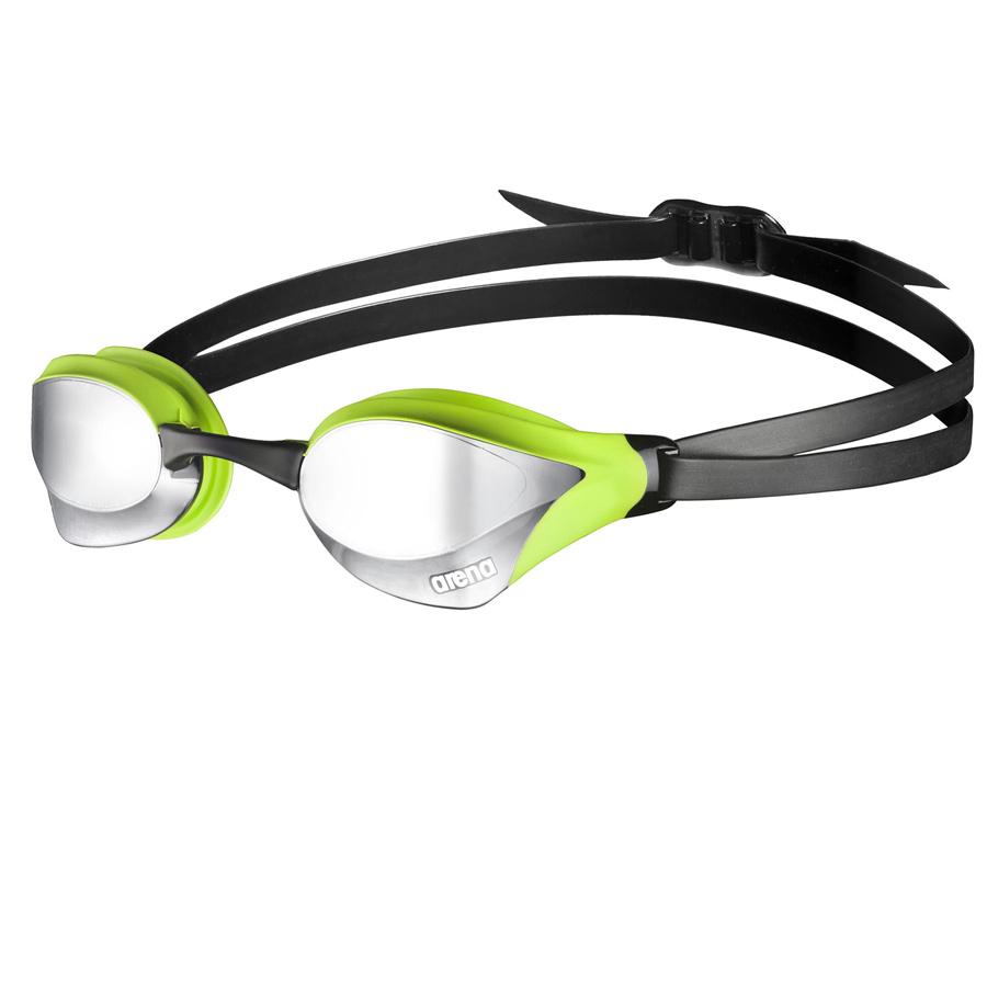 aaa20e8eb ... Cobra Core Espelhados - Oculos Natacao competicao - silver   green ...