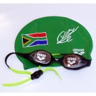 South Africa Jr swim cap and goggles - CLC limited edition