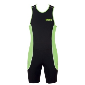 Trisuit ST Arena de Homem Rear Zipper - Black / Green Pea